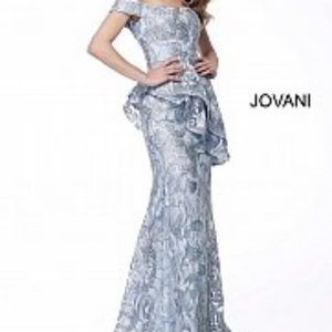 Jovani Ice Blue Mother of the Bride Dress